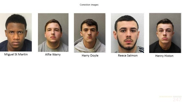 moped zombie knife carrying gang jailed
