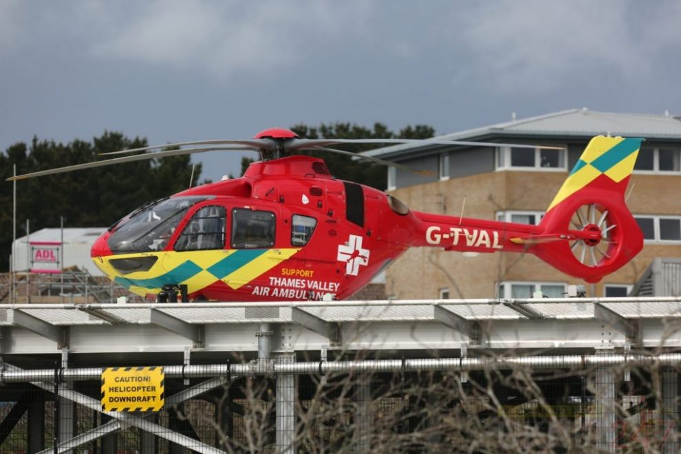 patient airlifted from shanklin to st marys hospital