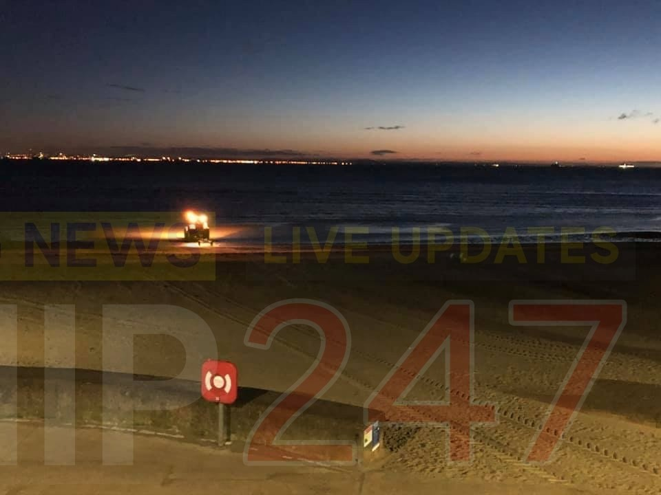 person playing on rocks in ryde sparks early morning search