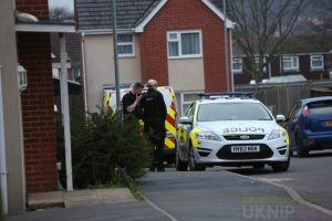 police descend on to bluebell meadows in newport