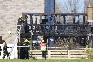 six fire crews called to property fire