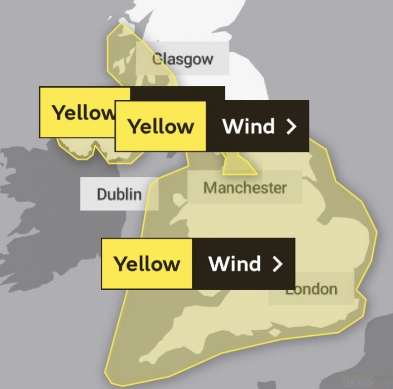 upgraded yellow weather warning issued for southcoast and isle of wight