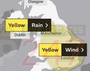 Yellow Weather Warning Issued For Isle Of Wight And Southcoast