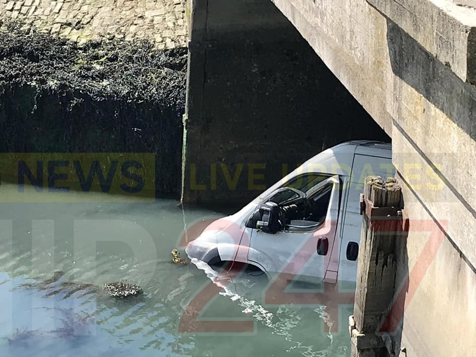 coastguard called to van trapped in water