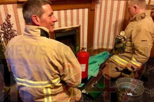 fire crew called to blocked chimney sparking fire