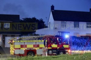 fire crew called to out of control burning in newport