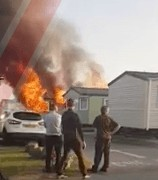fire rips through trecco bay holiday park in wales