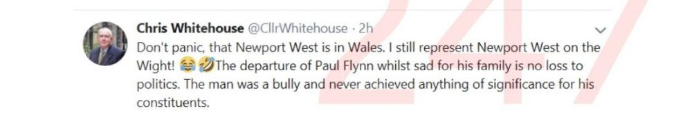 isle of wight councillor involved in twitter spat