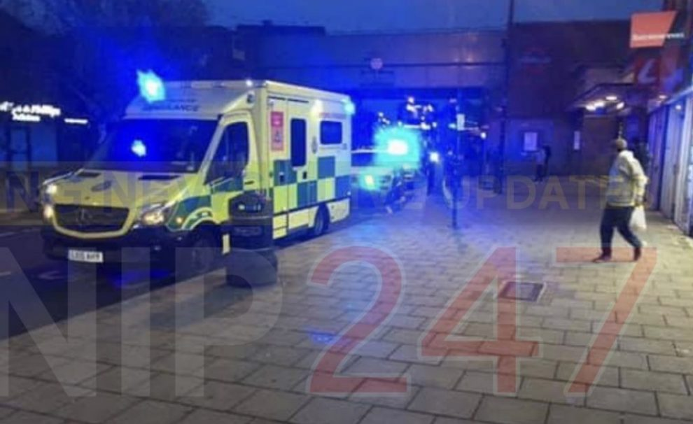 man rushed to hospital with head injury