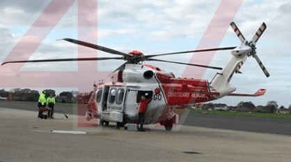 patient airlifted from st marys hospital on the isle of wight