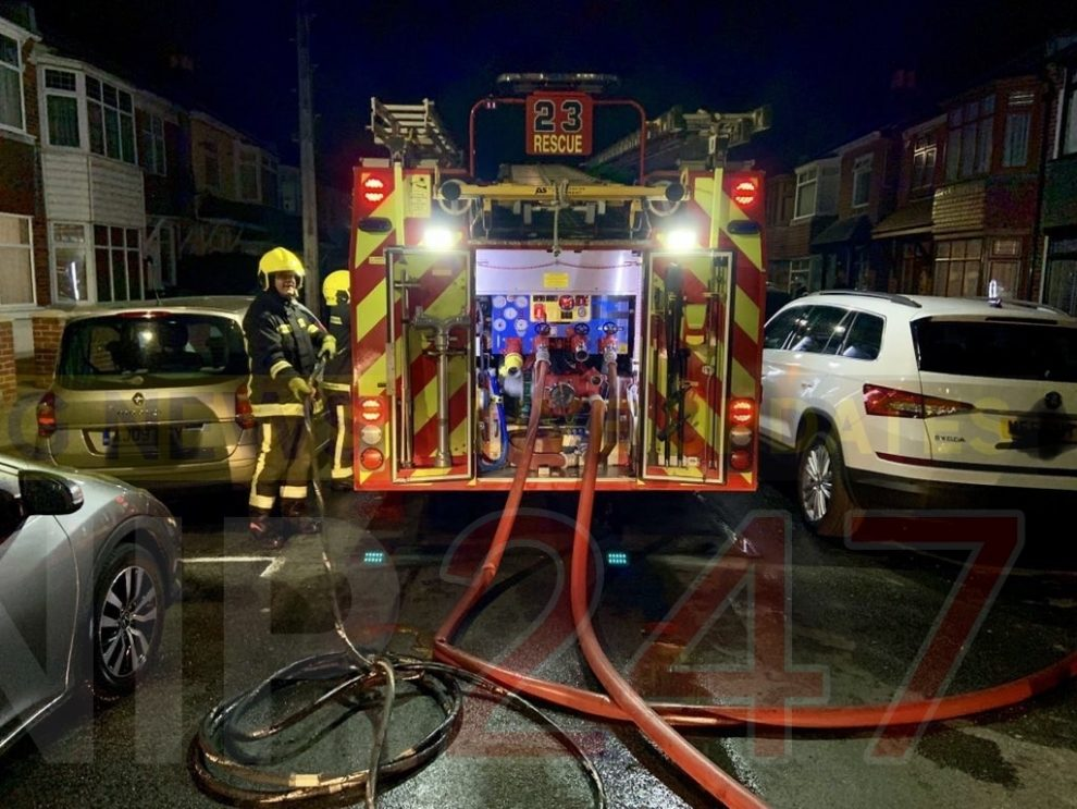 shed fire spreads to hilsea property