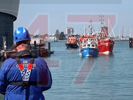 updatedbusy times for bembridge rnli after fish trawler breaks down