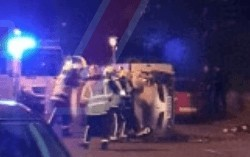 updatedemergency services called to persons trapped in overturned car in portsmouth