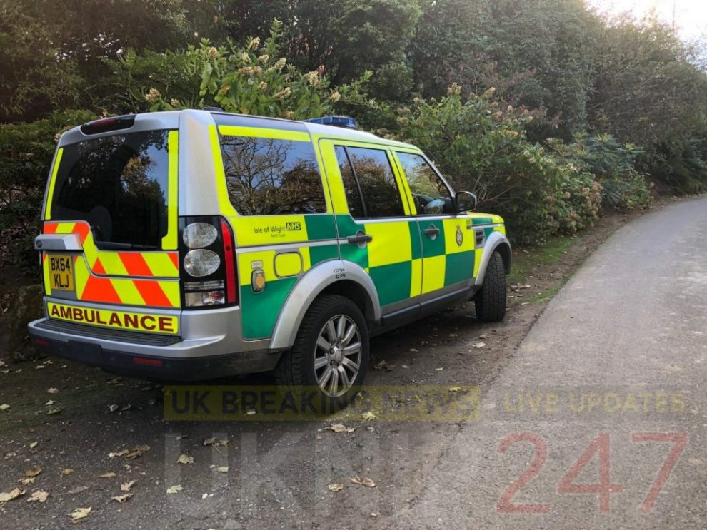 emergency services called to overturned vehicle on the isle of wight