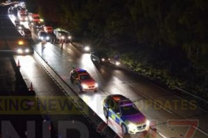 female airlifted following major incident on the m27 motorway