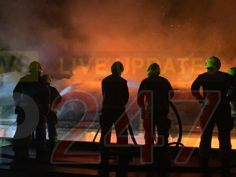 fire crew battle six hour blaze at hotel and spa