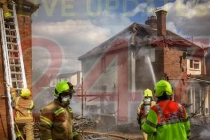 fire crews called to four properties well alight in wareside
