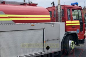 fire crews tackle blaze near camphill