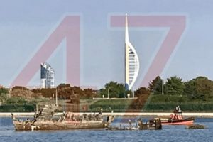 hillhead coastguard called to four children cut off by the tide in gosport