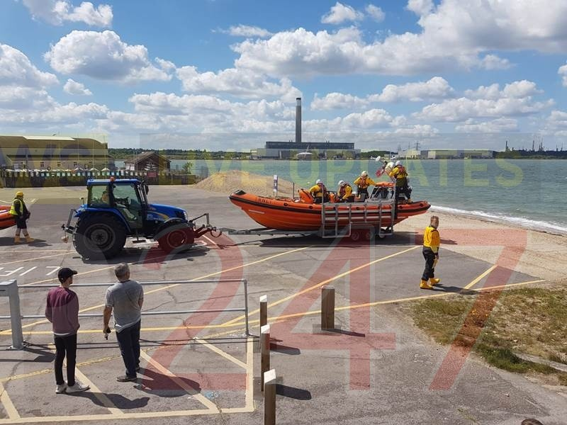 lifeboat called after concerns for person rescued from the sea