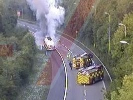 live updatesemergency services rushed to fuel tanker on fire on m25 near sevenoaks