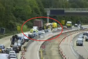 Long Delays After Collision On M27 Motorway In Southampton