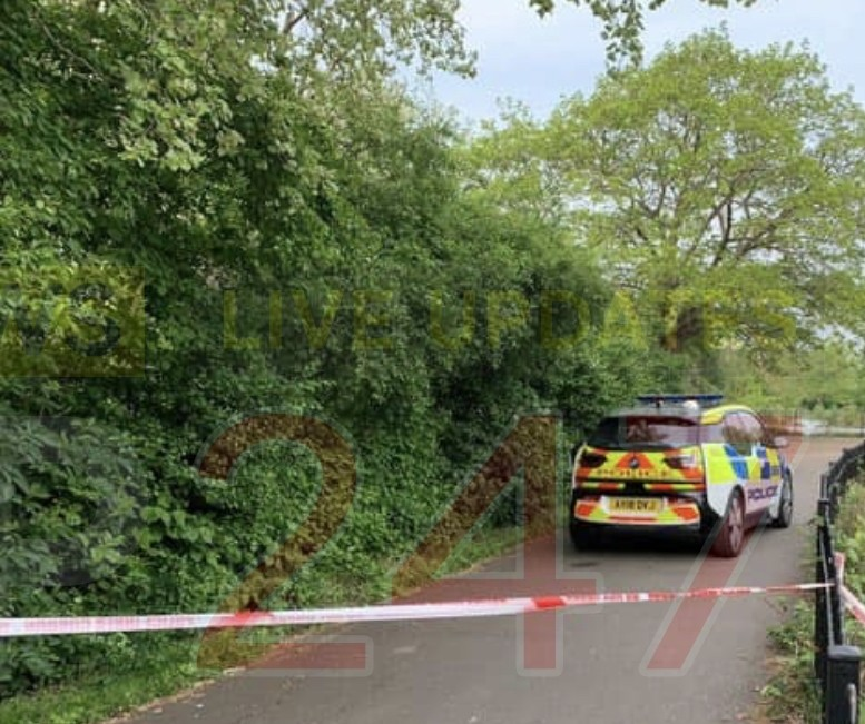manhunt launched after late night park attack