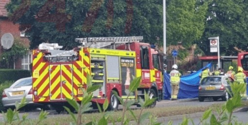 motorcyclist is in a life threatening condition following bus collision in morden