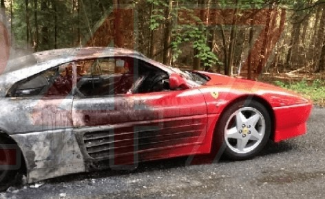 new meaning to hot wheels after fire rips through ferrari