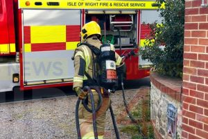 smoking towel causes blaze in totland
