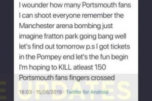 updatedanti terror police launch probe after sunderland fan issues sick and vile terror threat