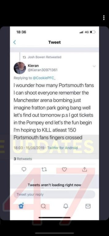 Updated:anti Terror Police Launch Probe After Sunderland Fan Issues Sick And Vile  Terror Threat