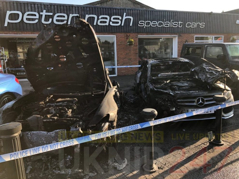 updatedarson probe launched after blaze leaves four vehicles gutted