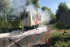 updatedfire crews called to refuse lorry alight on the a303