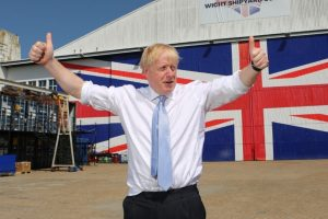 boris asked if they shipboats to mexico by lorry on his visit to the isle of wight