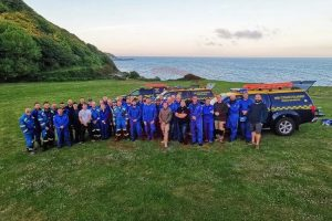 coastguards heros in headset pay the isle wight a visit