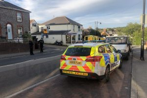 collision blocks wootton high street on the isle of wight