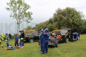 emergency services called to dog over cliff on the isle of wight