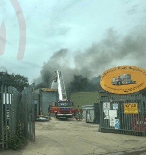 fire crews from across hampshire called to battle titchfield blaze