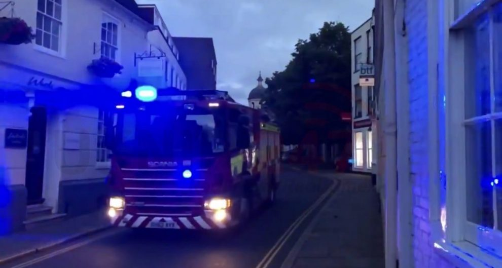 Fire Crews Tackle Canterbury Fire