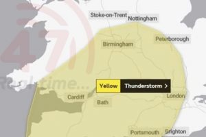 hampshire residents warned to expect heavy rain and thunderstorms as a yellow weather warning