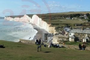 police set up safety cordons at beachy head eastbourne after explosives found