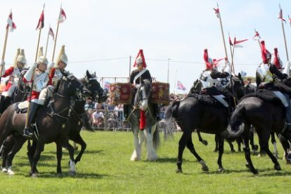 queen house cavalry go down a storm on the isle of wight
