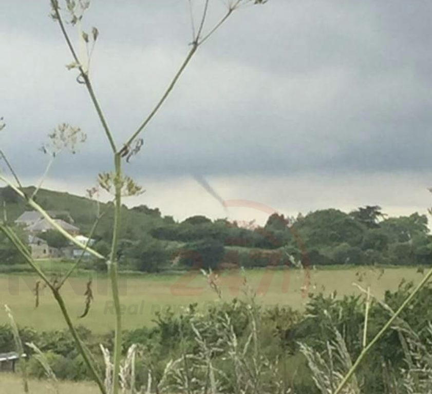 tornado formed over the isle of wight