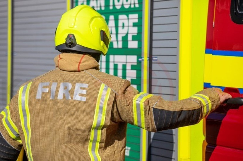 two arrested after homeless person set alight