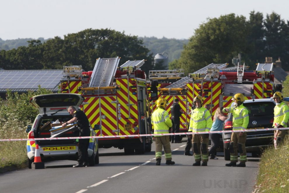 Updated: Video And Pictures Manhunt After Serious Hit And Run On Briddleford Road Near Newport