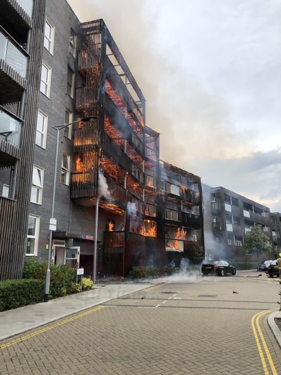 Updated:major Fire Breaks Out At Barking  Block Of Flats