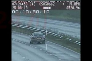 watch driver who was caught speeding at 151mph in an audi tt rs on the m23