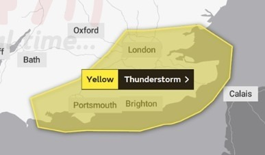 yellow weather warning in place for hampshire and the isle of wight