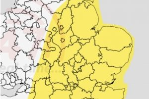 yellow weather warning issued for the south coast for thunder storms